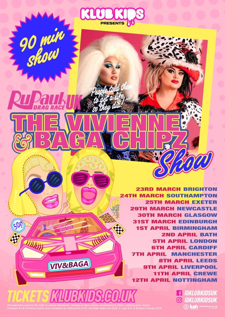 Get your tix now for @klubkids_uk Viv and Baga show! @ChipShopBird
