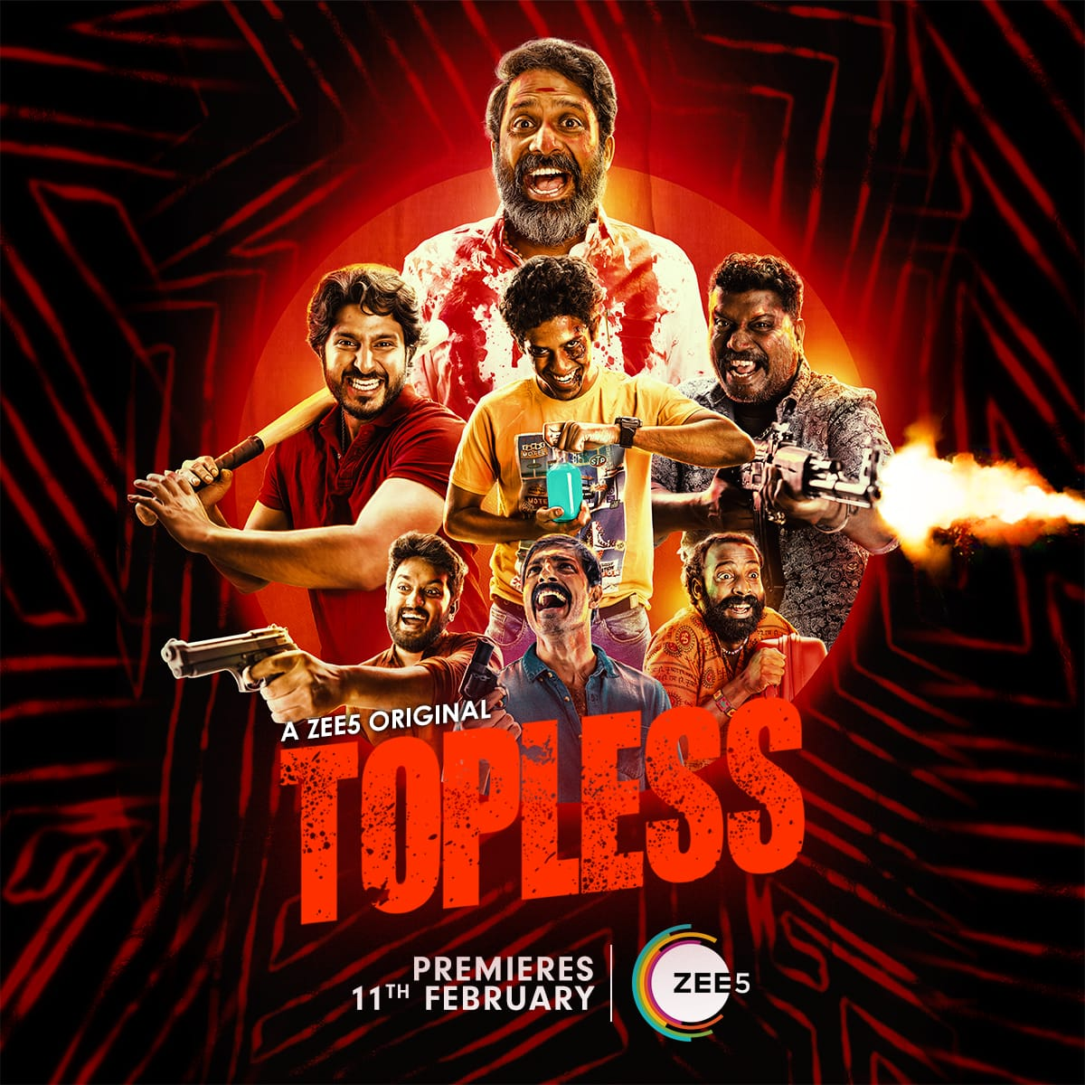 #ToplessTeaserFromTommorrow  A wild chase between gangs awaits you! Teaser of this wacky heist #Topless launches tomorrow! Stay tuned!  #ToplessOnZEE5  #AZEE5Original   @dineshmohn @SoldiersFactory @ZEE5Tamil @vishalvijayan96 @VishiViswesh @JoeArputhan @amritraw @J0min