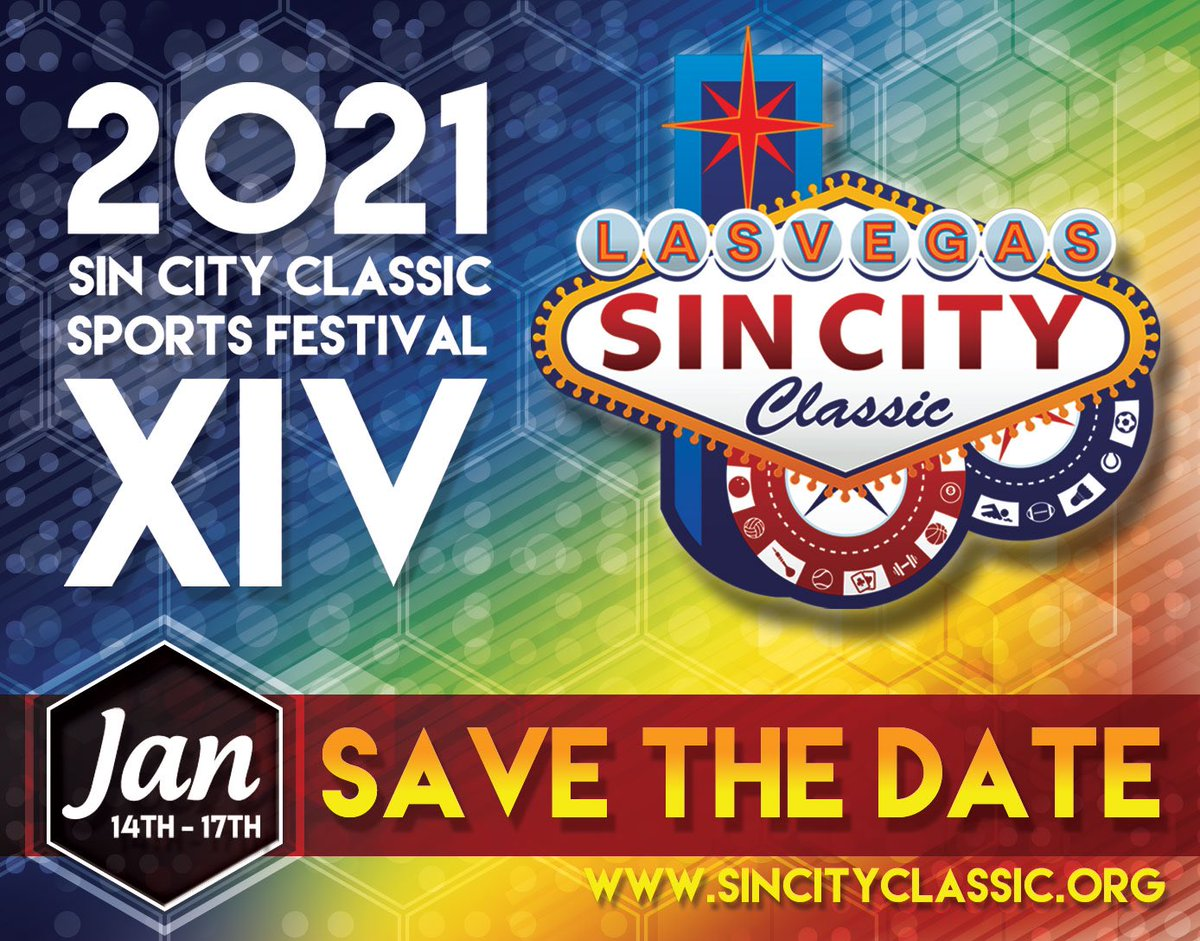 Never too early to start planning! Save the date for the 2021 #SinCityClassic, hope to see you all next year! 🎉