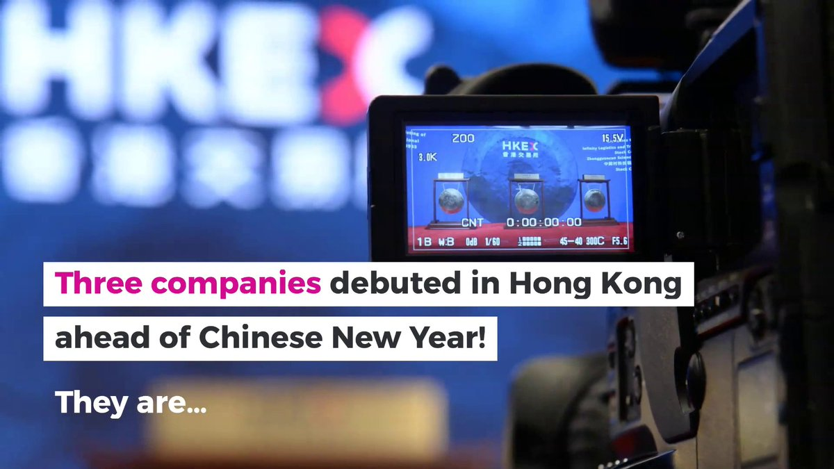 We saw three new #listings ahead of the Chinese New Year holiday. Welcome to HKEX! https://t.co/jY102NDRiG