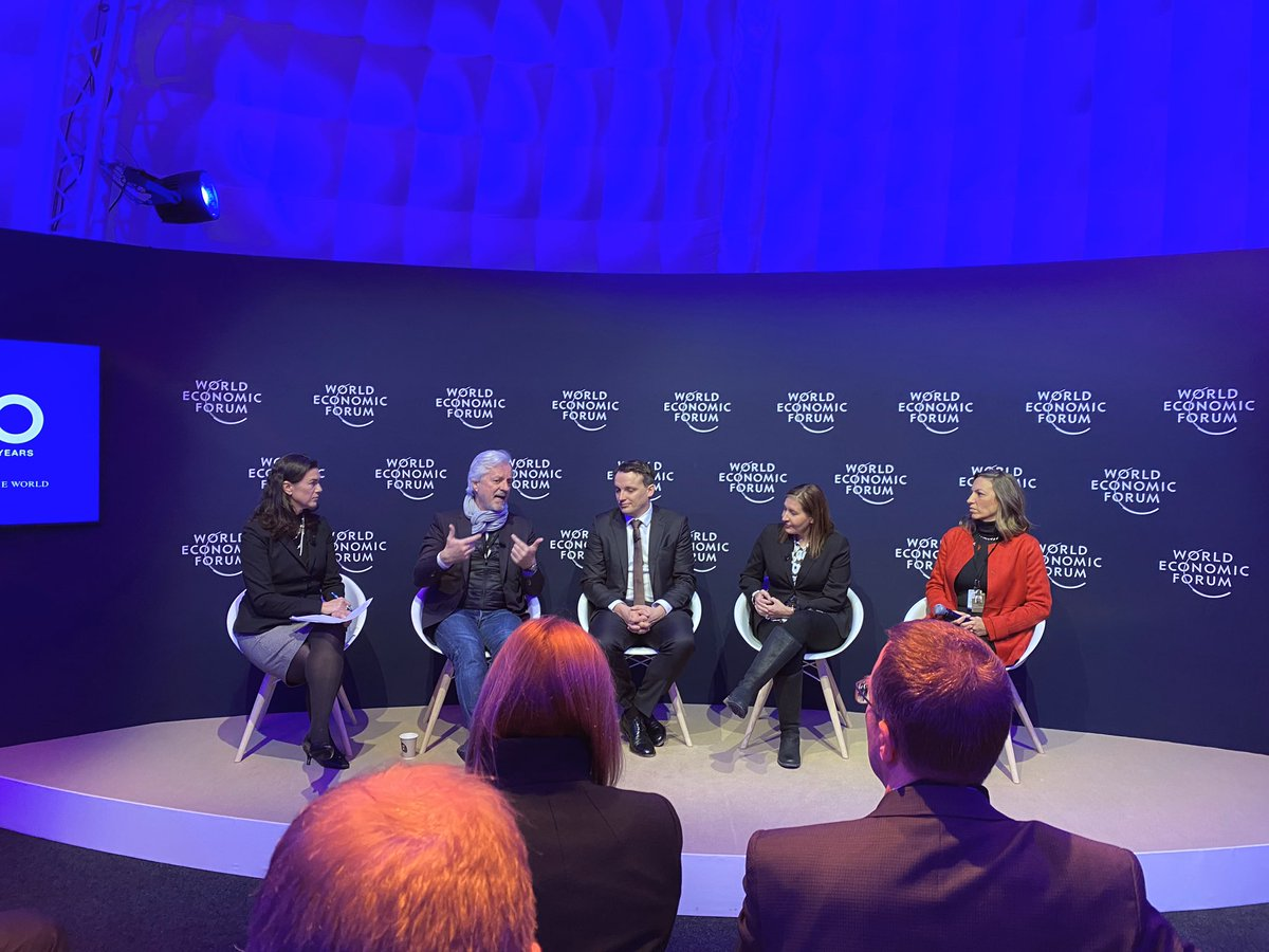 As member of the @wef Global Plastic Action Partnership, it was an honor to share our vision for a world free of #plasticpollution and #waste with @BeaperezBea, @andrew_morlet and @WWF's Cristianne Clos. #wef20 #wef2020 #Sustainability @CocaCola @Davos @circulareconomy @SAP