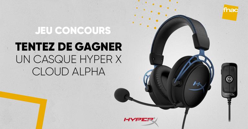 JEU CONCOURS 🎁| Pour les gamers 🎮 nous avons un casque @HyperX 🎧 Cloud Alpha S à vous faire gagner ➡ Pour participer: RT + Follow @Fnac  > Bonne chance 😀 >>