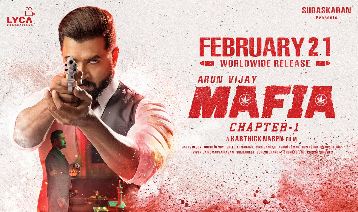 #MAFIA 🍁 From Feb 21 💥🔥 1st single releasing very soon 🎼  @arunvijayno1 🦁 @karthicknaren_M 🎬 @Prasanna_actor 🦊 @priya_Bshankar @DoneChannel1 #TheHunter 🏹 & #TheBeast ☝️😈 #MafiaFromFeb21