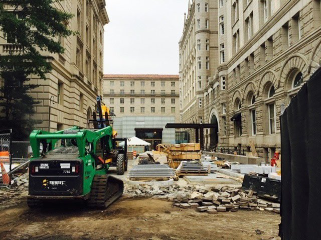Our @TrumpDC driveway 33 days prior to our Sept. 12, 2016 opening...Never quit and get the job done!!! #trump #construction #success #hardwork #teamwork #washingtondc #luxuryhotels #neverquit