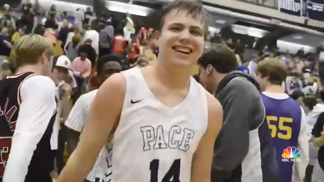 Atlanta's Pace Academy Varsity basketball coach had a surprise for their team manager last week. For the team's senior night, Daniel Lucke had a chance to enter the game, and scored an amazing 3-point shot at the buzzer.   @HarrySmith has the story.
