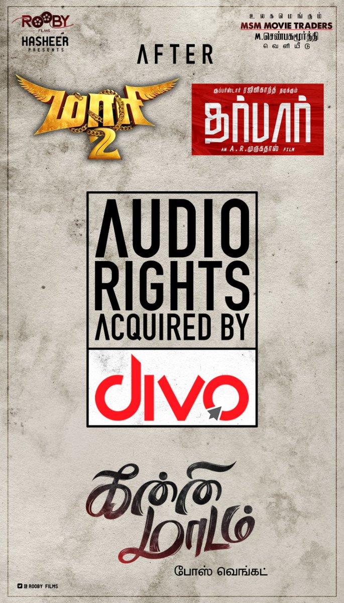 .#KanniMaadam audio rights acquired by @divomovies  A MSM Movie Traders Release #Senbhagamoorthy @RoobyFilms @Hasheer75 @sreeramkarthick @directorBose @rharisai @editor_rizaal @maheshm29083066 @Rharisai @PrabuM72447045 @Agnaldavid1 @DoneChannel1