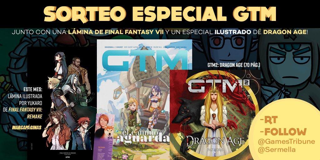 🔥GRAN SORTEO GTM🔥 Celebrando los premios @DeVuego , sorteamos 2 PACKS REVISTA FF GOLDEN (firmadas por servidor💚) + ESPECIAL DRAGON AGE + LÁMINA FF VII + MARCAPÁGINAS. - RT y seguir a @GamesTribune y @Sermella (fácil) - 2 Ganadores - Hasta Martes 11/2 a las 14h  - Solo España