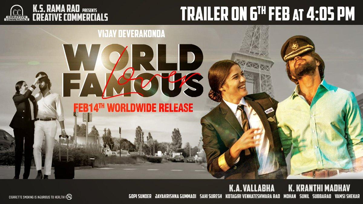 Fan made poster #WorldFamousLover @TheDeverakonda  @RaashiKhanna  @CatherineTresa1  @izabelleleite25  @aishu_dil  @ksramarao45  #Kranthimadhav #KAVallabha @adityamusic  @CCMediaEnt  #WFLonFeb14