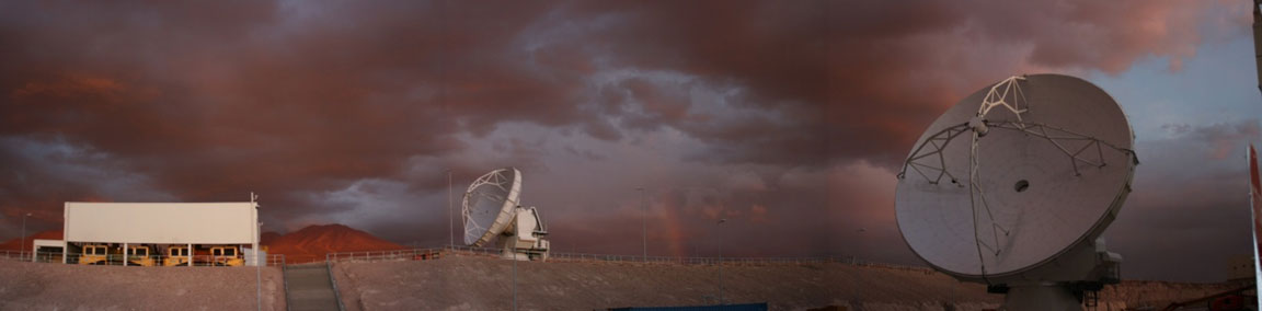 Ten years ago (yesterday) marked the beginning of @almaobs commissioning and science verification, led by R. Hills & A. Peck, at the Operations Support Facility (5050m). Notice the antenna transporters housed in the building at left.   Image: ALMA (ESO/NAOJ/NRAO), A. Wootten NRAO https://t.co/Ez8ygcCvVK