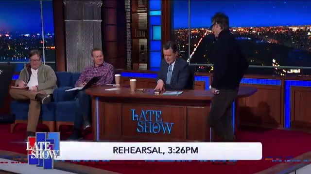 Goodnight, everyone! @StephenAtHome has a message for Jon Stewart. #RehearsalRewind #LSSC