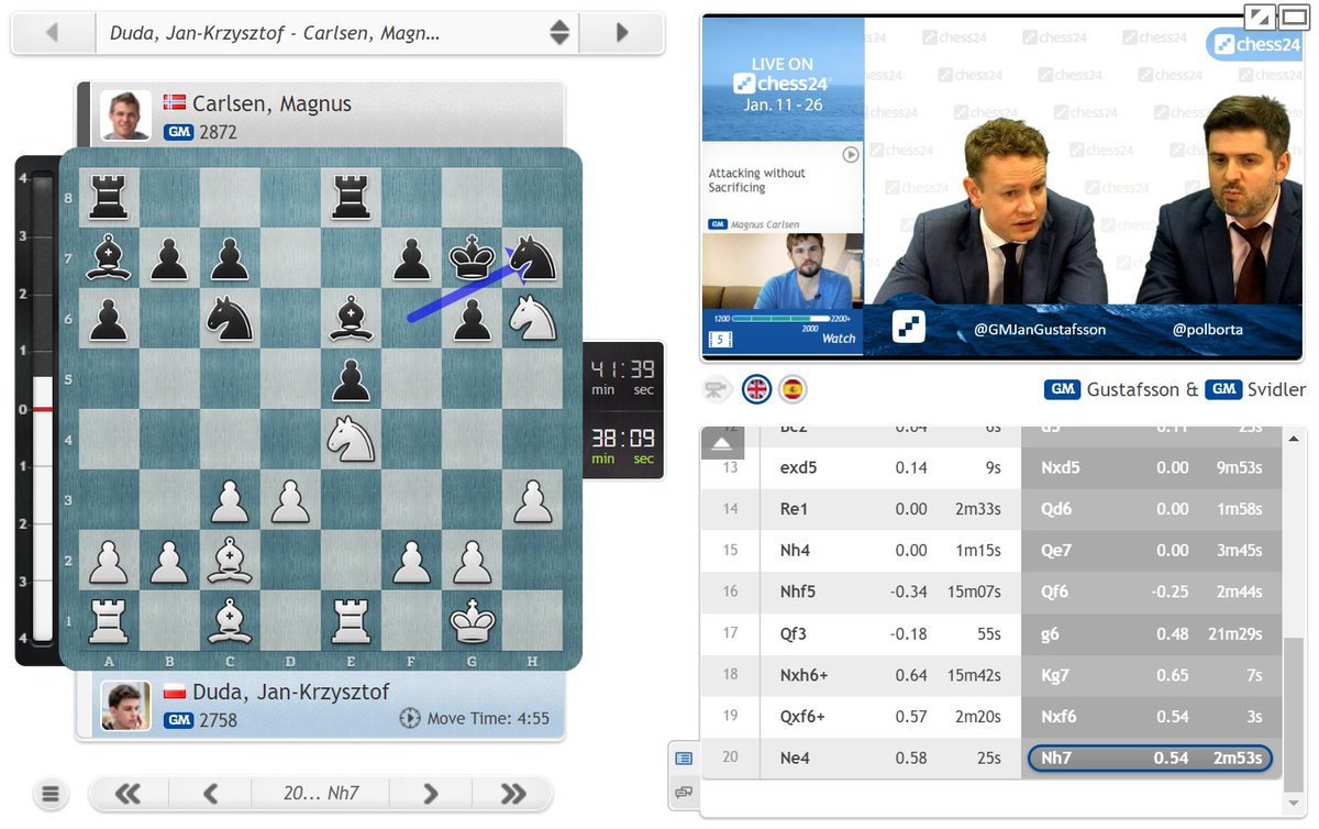 "test Twitter Media - Peter Svidler thinks Magnus' pawn sacrifice today is a ""very sharp winning attempt"", though you have to wonder if the World Champion didn't just have a bet before #TataSteelChess about how many games he could give up a pawn in! https://t.co/nDGuqMIKPD  #c24live https://t.co/v9eHEKQokr"