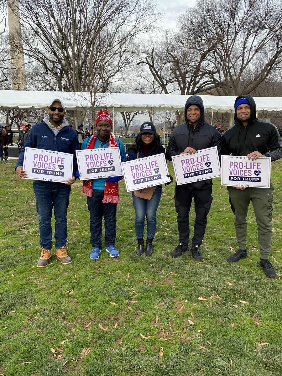 .@BlackVoices4DJT members at the #MarchForLife rally!