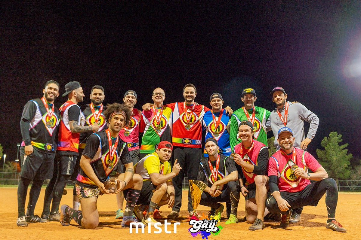 Congratulations to the 2020 #SinCityClassic @VGLQueerSports #Kickball Tournament winners! 🎉   A Division: Mighty Morphing Shower Strangers B Division: Little Kix C Division: SF Baes Women's Division: Betties  Great job to all of the kickballers this past weekend in Vegas. 👏