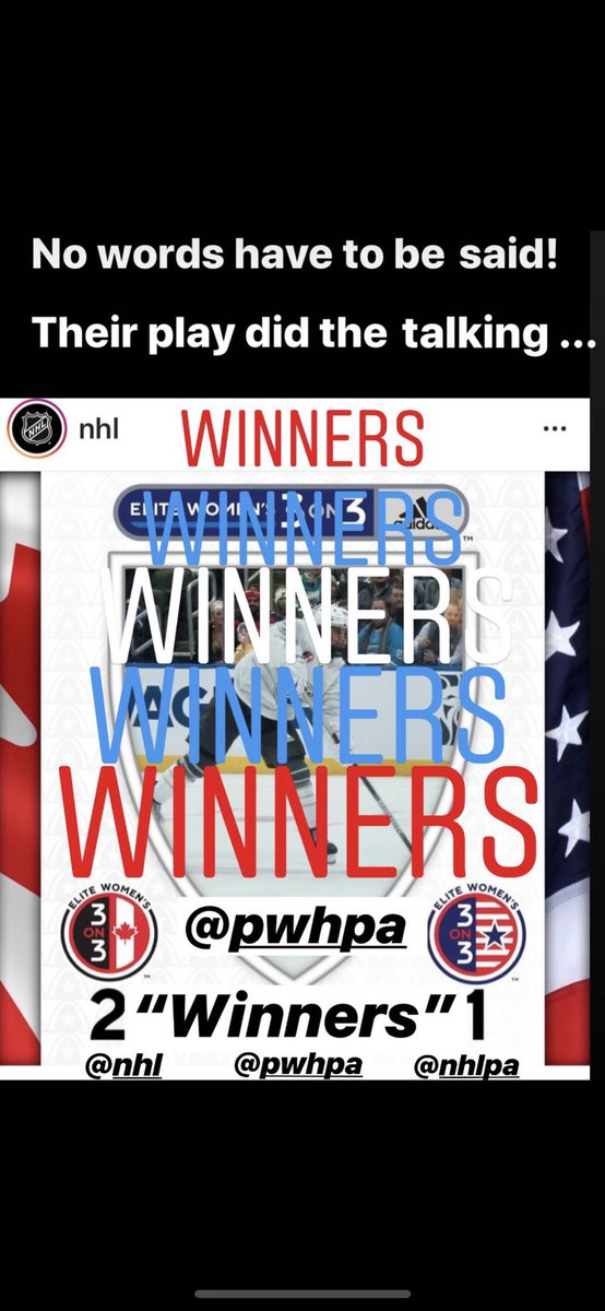 The time has come! @PWHPA  @NHL  @NHLPA  #ForTheGame