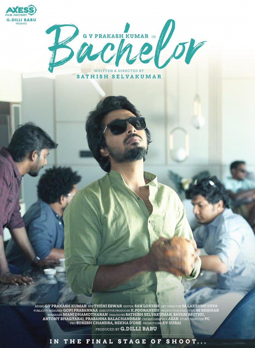 Congrats @gvprakash bro & team 👍 Here it is #BachelorThirdLook   @dir_Sathish @Dili_AFF @divyabarti2801 @gopiprasannaa @k_pooranesh @sanlokesh @Donechannel1 @Uptownldeas