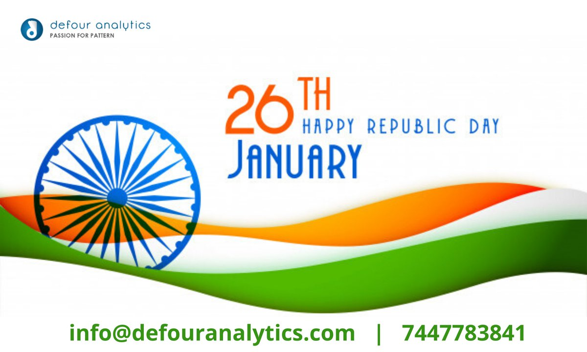 test Twitter Media - Republic Day Special Offer⠀ Enroll Before 26th January ⠀ & Get Flat 30% Off on All⠀ Data Science Courses. ⠀ Hurry Up...Offer Closing Soon...⠀ Contact us: 7447783841⠀ ⠀ #datascience #machinelearning #artificialintelligence #data #bigdata #ai #python #dataanalytics https://t.co/GrapXoUCkM