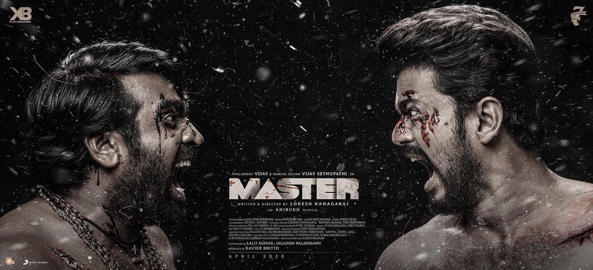 Thalapathy + Makkal Selvan = 🔥🔥  The most awaited #MasterThirdLook   #Master #MasterUpdate  @actorvijay @VijaySethuOffl @Dir_Lokesh @anirudhofficial @jagadishbliss @Lalit_sevenscr @imKBRshanthnu @MalavikaM_ @andrea_jeremiah @gopiprasannaa