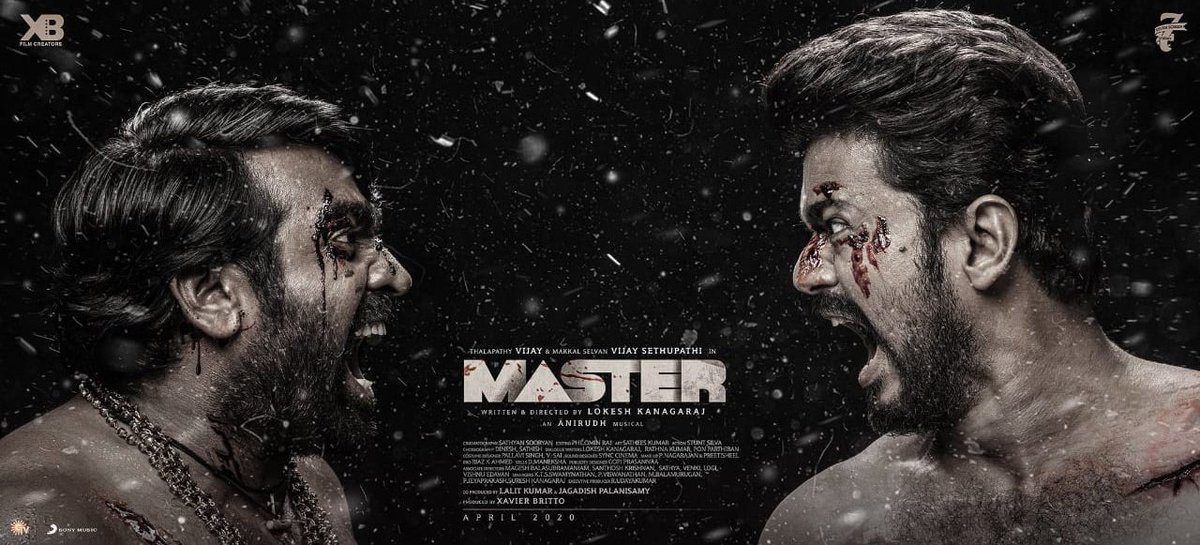 #Thalapathy + #MakkalSelvan = 💥💥💥  The Most Awaited #MasterThirdLook is Out✨  #Master #masterupdate  @actorvijay @VijaySethuOffl @Dir_Lokesh @anirudhofficial @Lalit_sevenscr @imKBRshanthnu @XBFilmCreators @7screenstudio #TicketNewMovies
