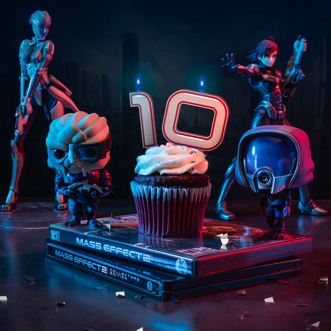 When your squadmates survive the suicide mission to make it to your birthday. Happy ten years, Mass Effect 2!