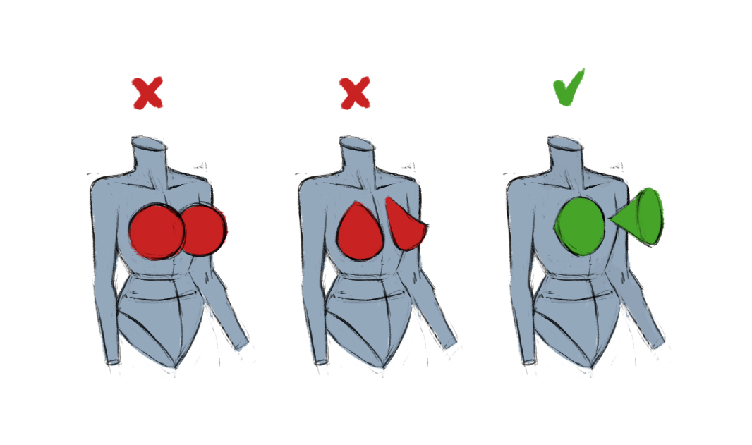 listen up, idiots! 📢 you are all doing it wrong! 👏  here's how you actually should draw boobs👇