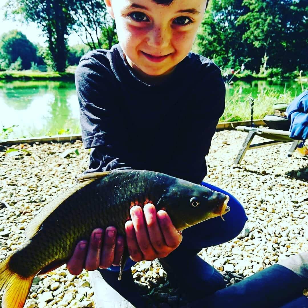My sons first carp #carpfishing https://t.co/OGYV1VdjHI