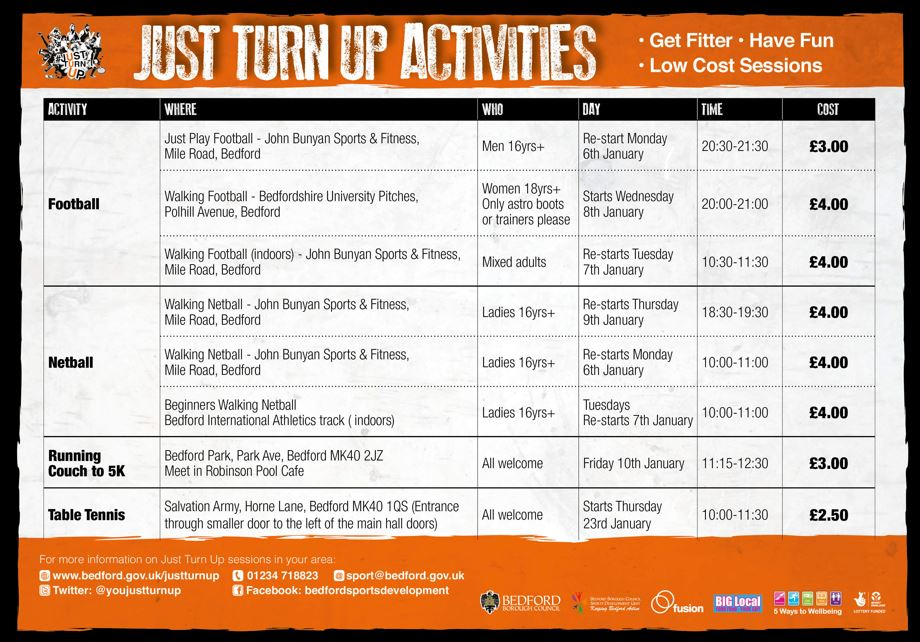 RT @teamBEDS: Just Turn Up sessions are a great way to try a new activity for the first time.   For more information click here or call Alison Brightman 01234 718823   #ActiveBedfordshire #justturnup #bedford #getactive