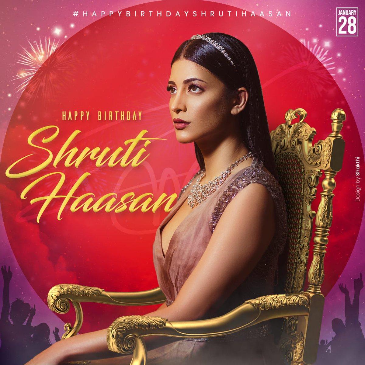 What a stunner she is 😍😍😍😍! Here's the common DP for tomorrow! #HappyBirthdayShrutiHaasan @shrutihaasan