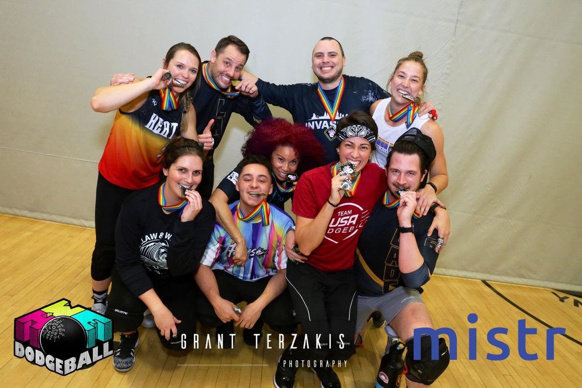 Congrats to the 2020 @WeHoDodgeball #SinCityClassic #Dodgeball winners!  Co-Ed Division: Park Her Sex Ton Women's Division: Money Shot 8.5 Division: Jake is a Loudmouth B*t@h  See you all next year! 😍