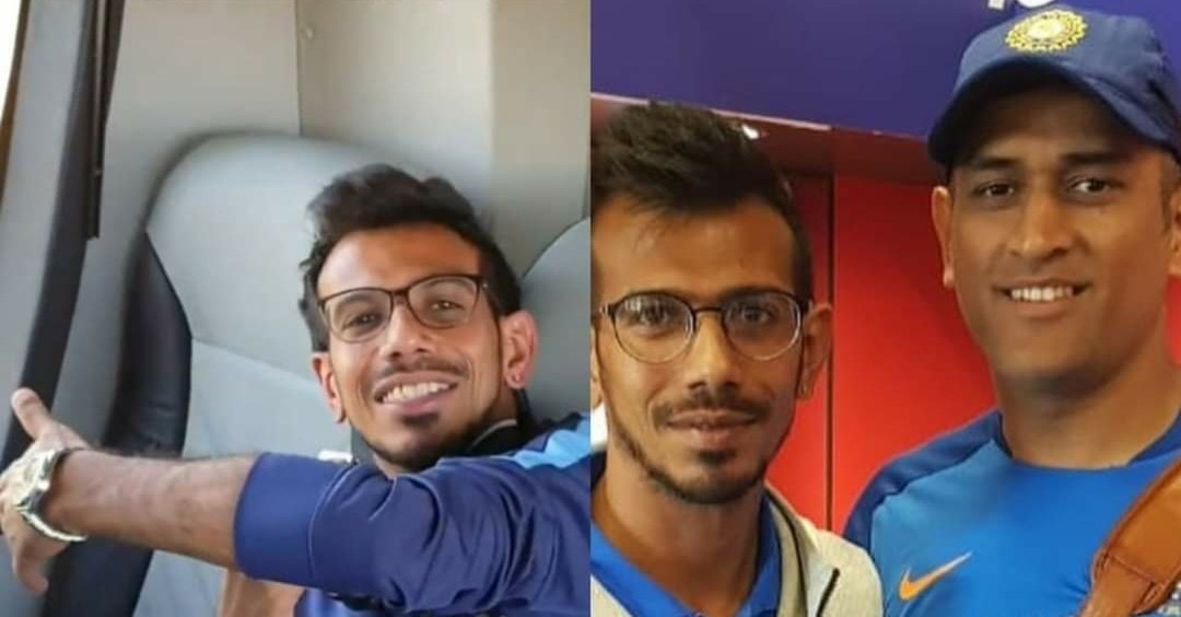 """We miss MS Dhoni a lot, Nowadays no one sits on Mahi bhai's last corner seat in team bus, it's reserved for the LEGEND DHONI"" -  Y Chahal"