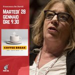 Domani martedì 28 gennaio alle 9.30 @RedavidF interviene in diretta su @CoffeeBreakLa7 https://t.co/ABlkUFIiIz