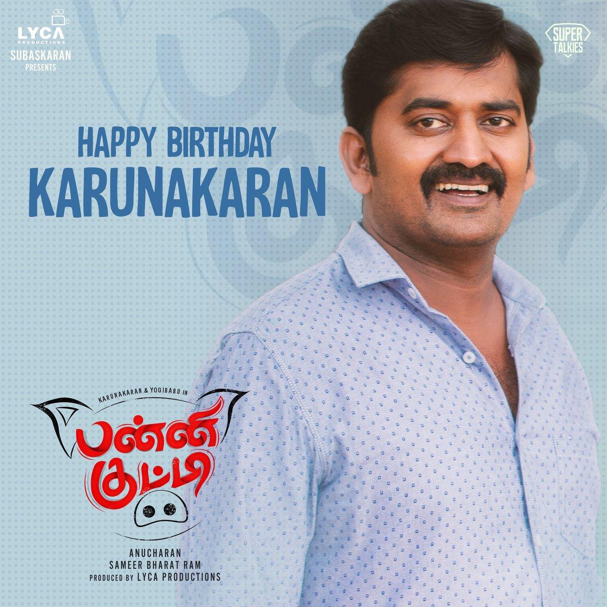 Birthday wishes to #PanniKutty Hero #Karunakaran 😍