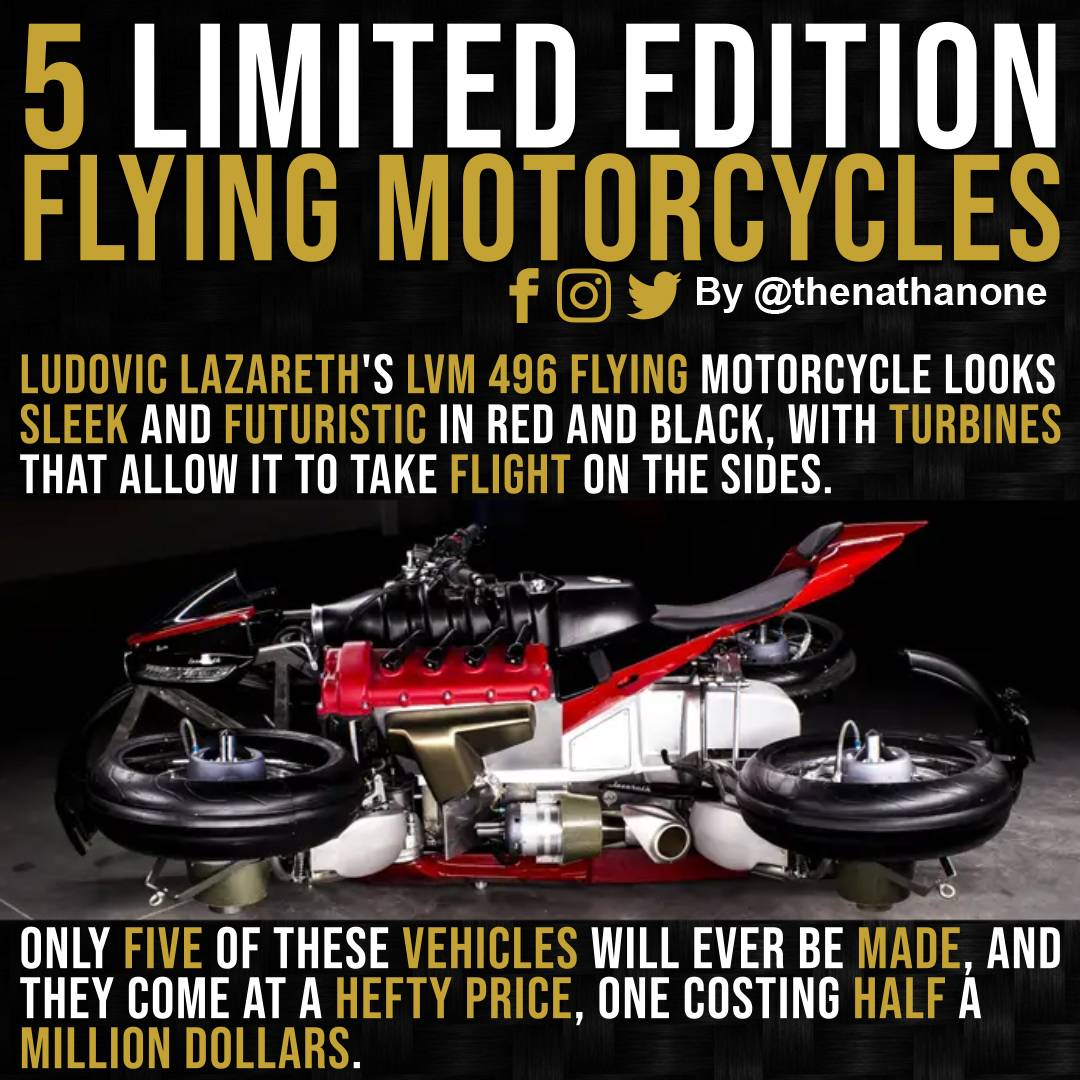 test Twitter Media - Only 5 of the Ludovic Lazareth's LVM 496 flying motorcycle will ever be made. They come at a hefty price and costing half a million dollars.  #AI #AutonomousVehicles #ArtificialIntelligence #MachineLearning #DeepLearning https://t.co/Hf1H7mzCFZ