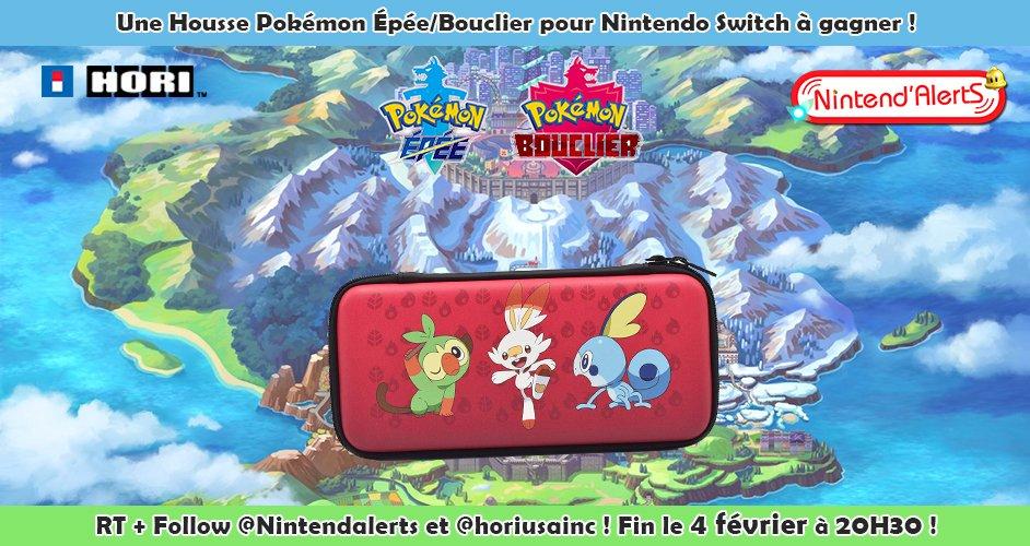 #Concours : Une housse de protection Starters #PokemonEpeeBouclier pour Nintendo Switch à gagner !  Follow @nintendalerts + @horiusainc, RT ce Tweet et tague un ami !  Fin le 04/02 à 20h30 ! Retrouvez un autre modèle de cette pochette ici ►
