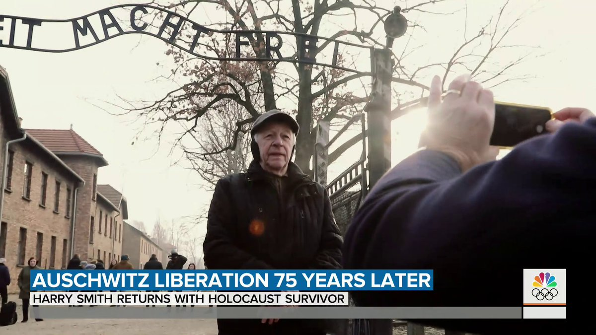 """This morning, @harrysmith brings us a powerful story about Aron Krell, who's a Holocaust survivor returning to Auschwitz 75 years after the horrific events that took place there: """"To really believe that I went through it — it's unbelievable,"""" Krell said."""