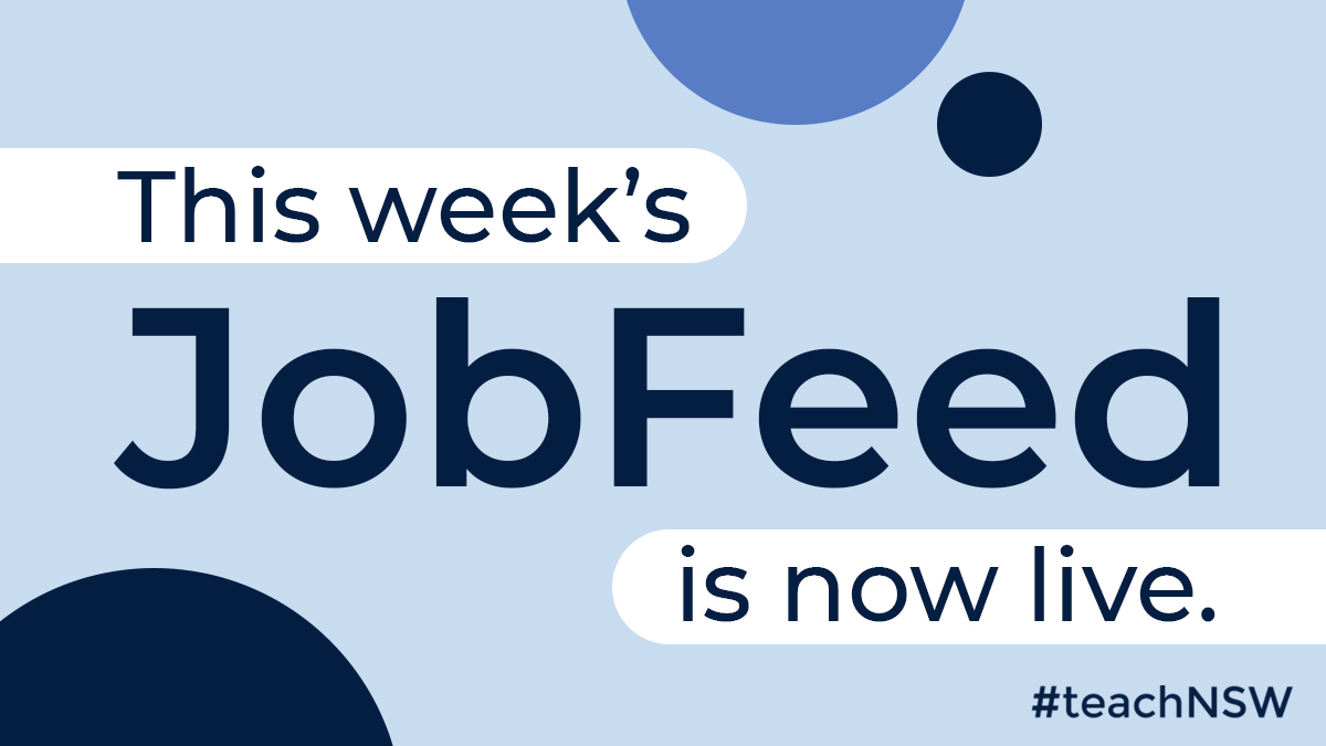 Hot off the press! Your next teaching or executive opportunity could be waiting for you in this week's edition of JobFeed: https://t.co/RKFM58kdH3. #teachNSW #JobFeed #teachandmakeadifference https://t.co/yX1VMwYSSC