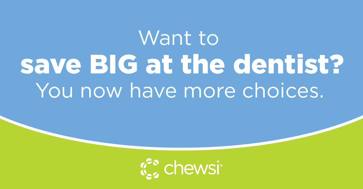 Want to save big at the dentist? You now have more choices. Follow Chewsi on Facebook to see the latest dentists to join our network. https://t.co/AGy1W1V73A https://t.co/cJdAPwBPJD