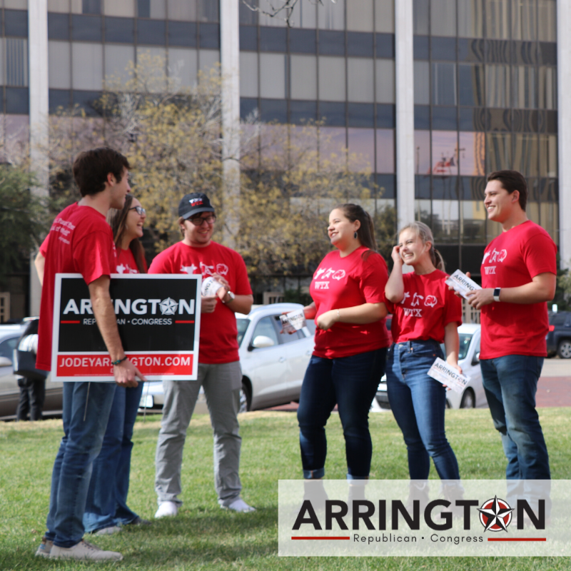 Join Team Arrington for a Block Walk on Saturday, February 1st, in Lubbock. We will meet in front of 1312 Texas Avenue. Look for the Arrington T-shirts and signs. We look forward to seeing you there. Please RSVP to sage@jodeyarrington.com and let us know of any questions.