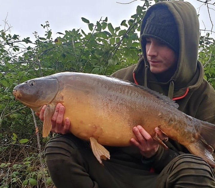 A well deserved winter carp for Chris Longley from St.Georges. <b>25lb</b> on the button! #carpfishi