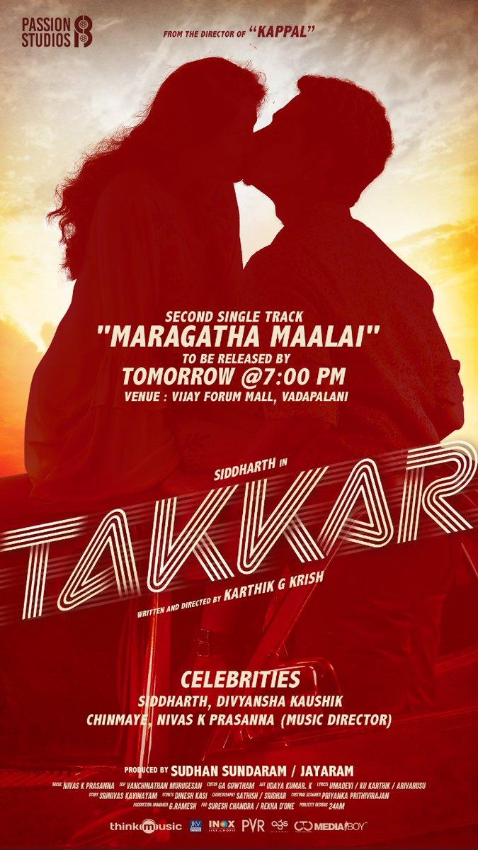 Takkar Second single launch event @Actor_Siddharth @itsdivyanshak @iYogiBabu @PassionStudios_ @thinkmusicindia @nivaskprasanna @DoneChannel1 @CtcMediaboy @Chinmayi