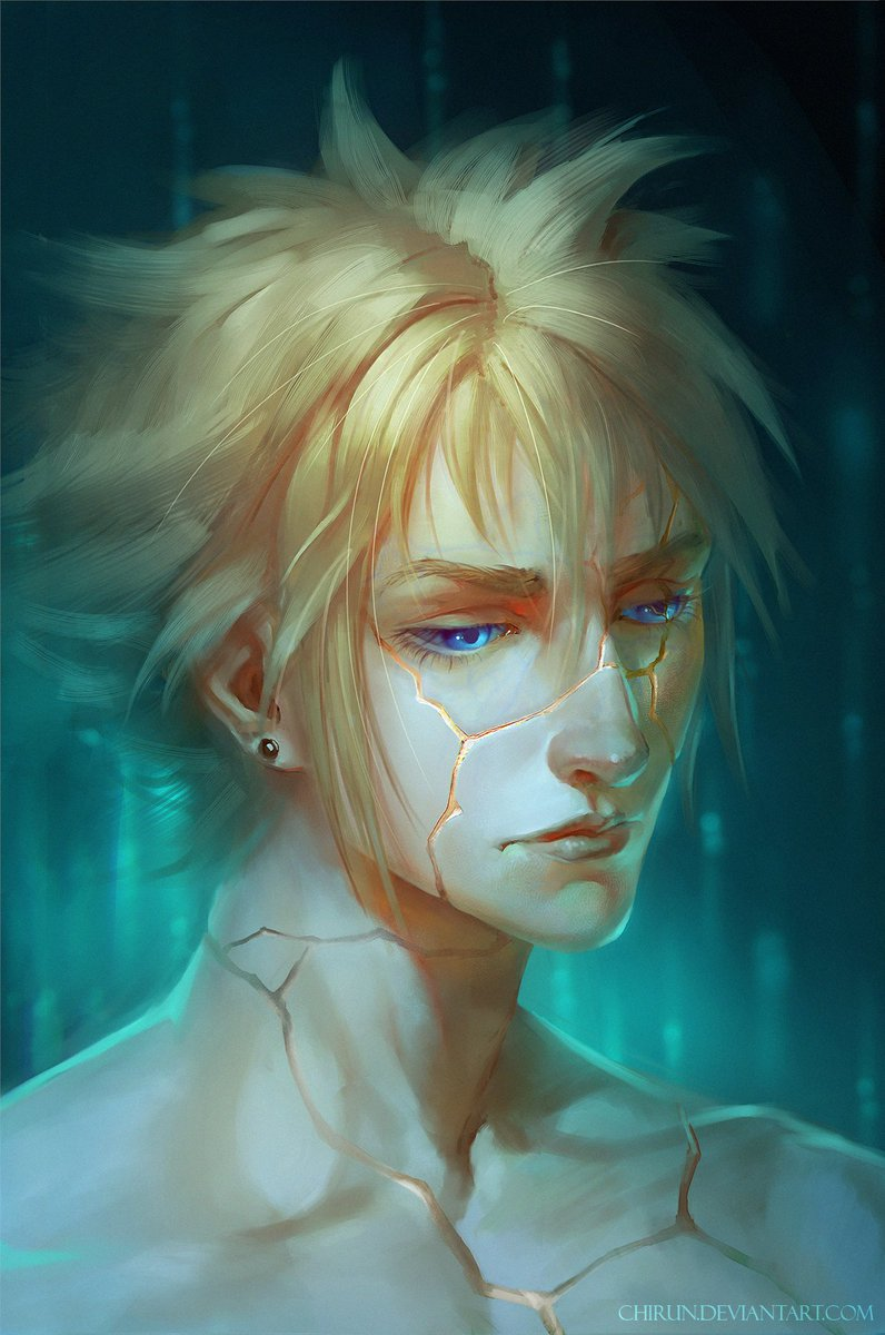 """#FFVII #FFVIIRemake #Sephiroth #Cloud """"Kintsugi is the Japanese art of repairing broken pottery by mending the breakage with lacquer mixed with powdered gold As a philosophy,it treats breakage and repair as part of the history of an object, rather than something to disguise"""""""