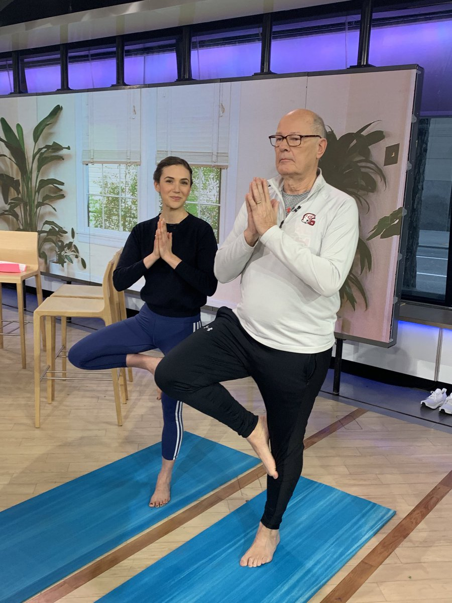 So cool doing @yogawithadriene on @TODAYshow this morning. It's been a great journey on the 30 day challenge. I felt the benefits from the beginning. Love Adriene's approach.  Her encouragement.  Benji. So now what.   For her followers what sessions do I do next?