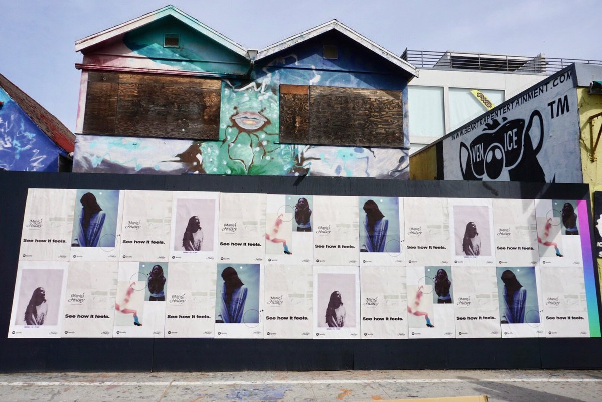 See How It Feels with the murals @Spotify made for Manic✨ u can see them in person at Venice Beach Boardwalk in LA