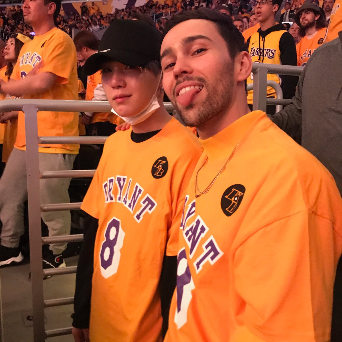 1ST LAKERS GAME WITH MY BROTHER SUGA. MAMBA FOREVER