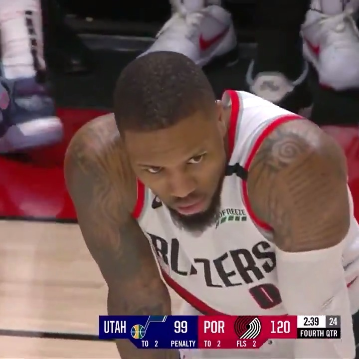 The entire arena gives Dame MVP chants after his 51-point game 🗣