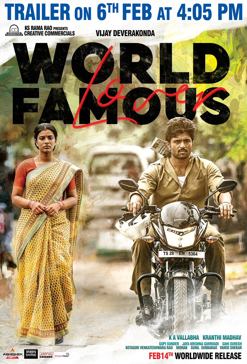 World 1 - Small town love story.  #WorldFamousLover This Valentine's Day - Feb14th.  Trailer on Feb 6th.