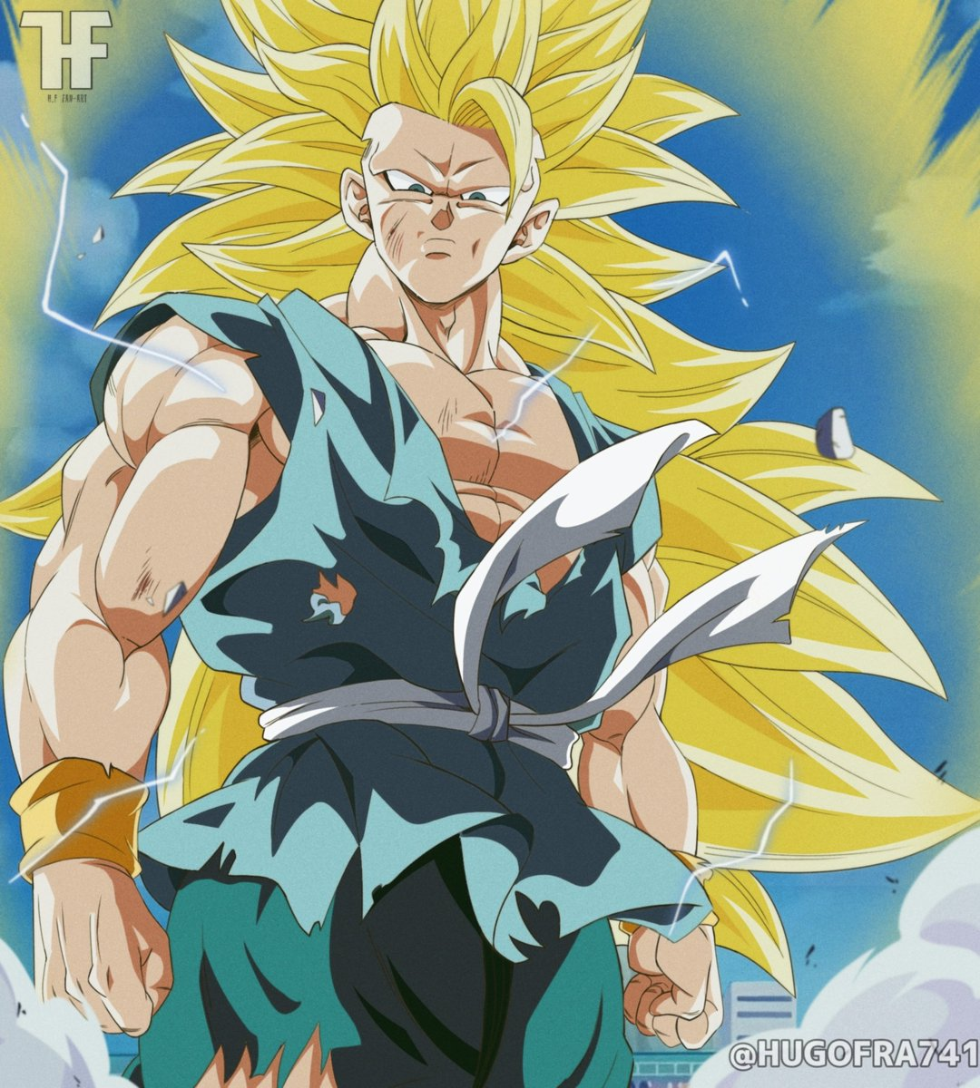 Goku ssj3 with the suit of the final part of the series #Goku #dragonballz #DragonBallSuper #dragonballgt #DragonBall