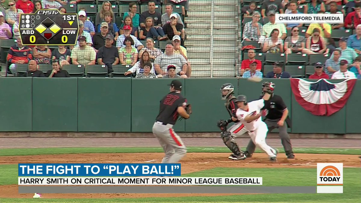 For more than 40 cities across the country, there's fear that this could be their last season with a minor league baseball team after Major League Baseball announced controversial plans to cut ties with more than three dozen teams. @HarrySmith has the story.