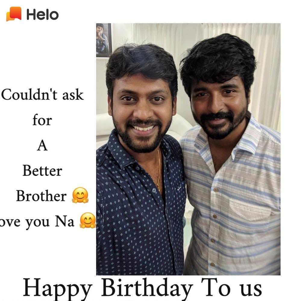 Happy Birthday to us na 😁😊😊😊@Siva_Kartikeyan  Stay Blessed. Stay positive and stay happy na!! Blessed to share my bday with yours!  (Background music: enga anna enga anna 🤩🤪)