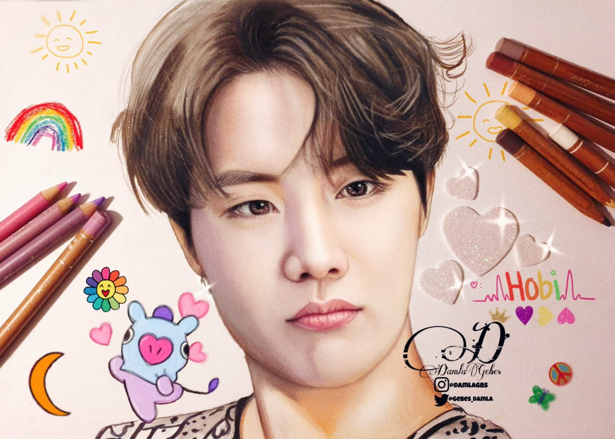 Happy B-day our Hope🌈  our Sunshine🌞  our Hobi 🐿🥺 🎂🎉🎁🎈  @BTS_twt 💜  #JHOPEDay #JHOPEBDAY  #JhopeBirthday #Hobi #HOSEOKDAY #HOSEOK #BTS #btsfanart #HappyBirthdayJhope #SunshineHobiDay