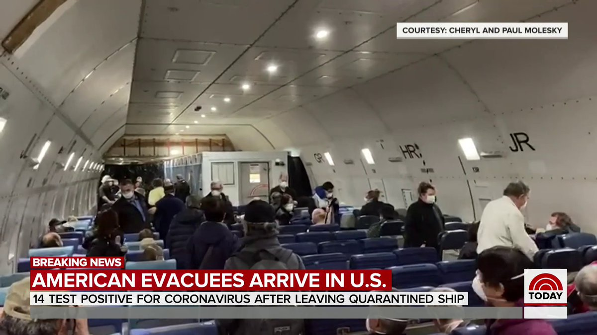 The State Department has revealed that 14 people have tested positive for coronavirus after evacuating from a quarantined cruise ship in Japan. @SarahHarmanNBC has the story.
